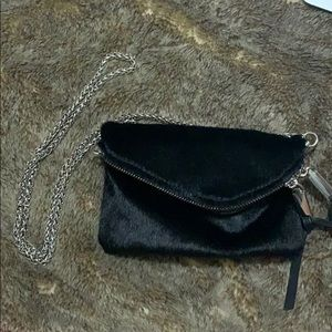Free People Never Use Black Hair Purse Chain Link